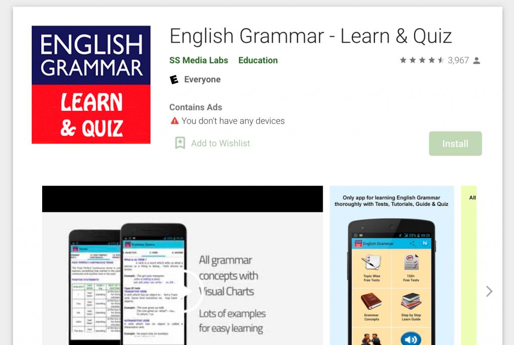 English Grammar – Learn & Quiz